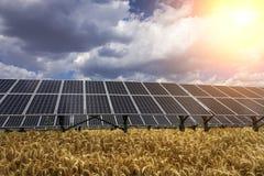 Панель солнечных батарей и возобновляющая энергия Стоковые Изображения RF