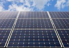 Панель солнечных батарей и возобновляющая энергия Стоковые Фото