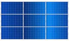 Панель солнечных батарей с славными тенями вектор иллюстрация вектора