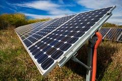Панель солнечных батарей, фотовольтайческая стоковое фото