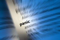 ПАНИКА - Приступ паники стоковые изображения