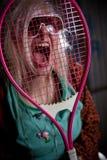 Панковская девушка кричащая Стоковое Фото