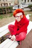 Панковская девушка стоковая фотография rf