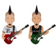 Панк альтернативы гитариста Стоковые Изображения