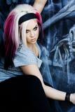 панк способа готский модельный Стоковая Фотография