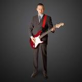 панк человека гитары Стоковая Фотография
