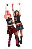 панк 2 девушок Стоковые Фото