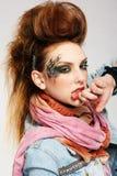панк glam девушки стоковые изображения rf