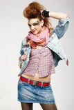панк glam девушки стоковое фото