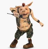 панк toon свиньи Стоковое Изображение