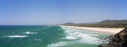 Панорама Австралии пляжа бухты Norries Стоковое фото RF