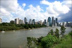 панорама Австралии brisbane Стоковые Изображения RF