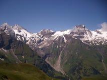 Панорама Австрии Альпов от дороги Grossglockner высокой высокогорной стоковое фото