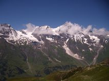 Панорама Австрии Альпов от дороги Grossglockner высокой высокогорной стоковые изображения rf