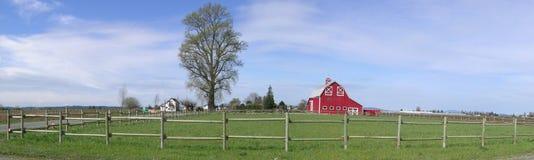 панорама амбара деревенская Стоковые Изображения