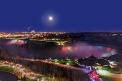 Панорама американца понижается и подкова падает на ночу Стоковые Фотографии RF