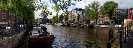 Панорама Амстердама Стоковые Изображения