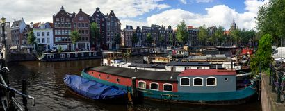 Панорама Амстердама Стоковая Фотография