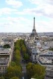 Панорама антенны Париж Стоковое Изображение RF