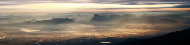 Панорама ландшафта горы Стоковые Фотографии RF