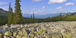 Панорама ландшафта гор Стоковое Изображение RF