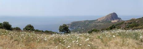 Панорама ландшафта на море Стоковое фото RF