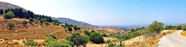 Панорама ландшафта на острове Kos в Греции Стоковые Фотографии RF