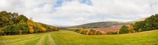 Панорама ландшафта осени Стоковая Фотография RF