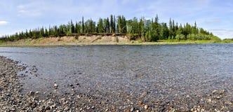 Панорама ландшафта реки Стоковое Изображение