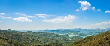 Панорама ландшафта сельской местности Гонконга Стоковые Изображения RF