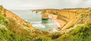Панорама 12 апостолов на большой дороге океана в Виктории Стоковые Фото