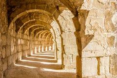 Панорама аркады театра Aspendos Стоковое Изображение