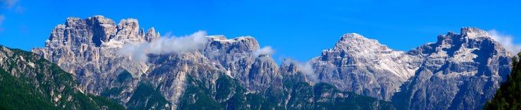Панорама Альпов доломита Стоковые Фото
