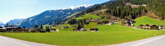 Панорама Альпов Стоковые Изображения RF