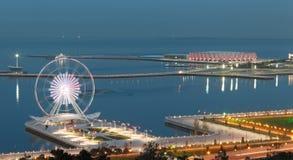Панорама Баку стоковые изображения