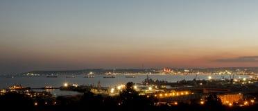 Панорама Баку Стоковое Изображение RF