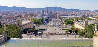 Панорама Барселоны Стоковые Изображения RF