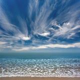 Панорама берега океана Стоковые Изображения