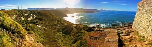 Панорама береговой линии Испании Стоковые Изображения