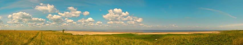 панорама береговой линии Стоковое Изображение