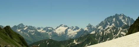 панорама большие горы горы ландшафта Стоковое Изображение