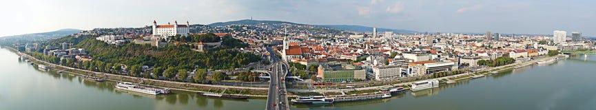 Панорама Братиславы Словакии стоковое фото