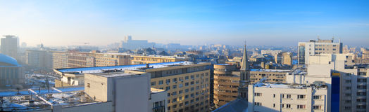 Панорама Бухареста, Румыния Стоковое Фото