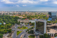 Панорама Бухареста Стоковые Изображения