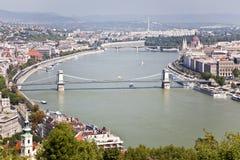 Панорама Будапешт Стоковое Фото