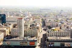 Панорама Варшавы Стоковая Фотография RF