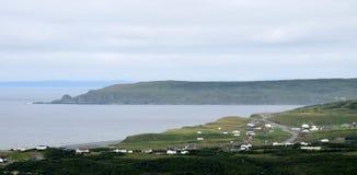 Панорама вдоль ирландской петли, южная линия берега Стоковая Фотография