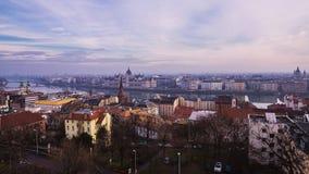 панорама Венгрии вечера budapest Стоковое Изображение RF