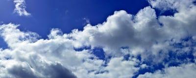 Панорама весны, лета заволакивает на голубое солнечное небо, backgroun Стоковые Изображения RF