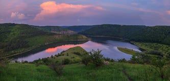 Панорама вечера Стоковое Изображение RF